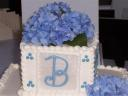 Blue flowers & monogram